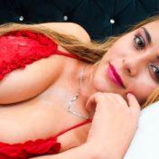big tits with red bikini